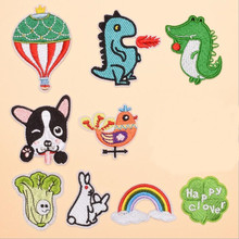 The Cartoon Animal Vegetable Embroidery Patch for Clothing Iron On Embroidered Sew Fabric Badge Garment DIY Apparel Accessories