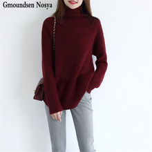 2019Autumn And Winter new sweater women turtleneck Cashmere Loose knitted pullover Fashion casual sweaters