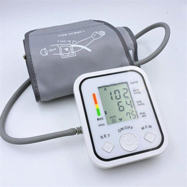 Полная автоматическая верхняя рука Мониторы кровяного давления вр цифровой электронный тонометр тонометр Импульсный heart rate monitor