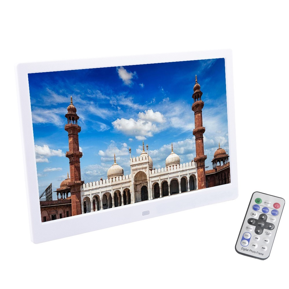 Liedao 12 Inch TFT Screen LED Backlight HD 1280*800 Full Function Digital Photo Frame Electronic Album Music Mp3 Video Mp4 10 inch tft screen led backlight hd digital photo frame electronic album full function photo music video good gift
