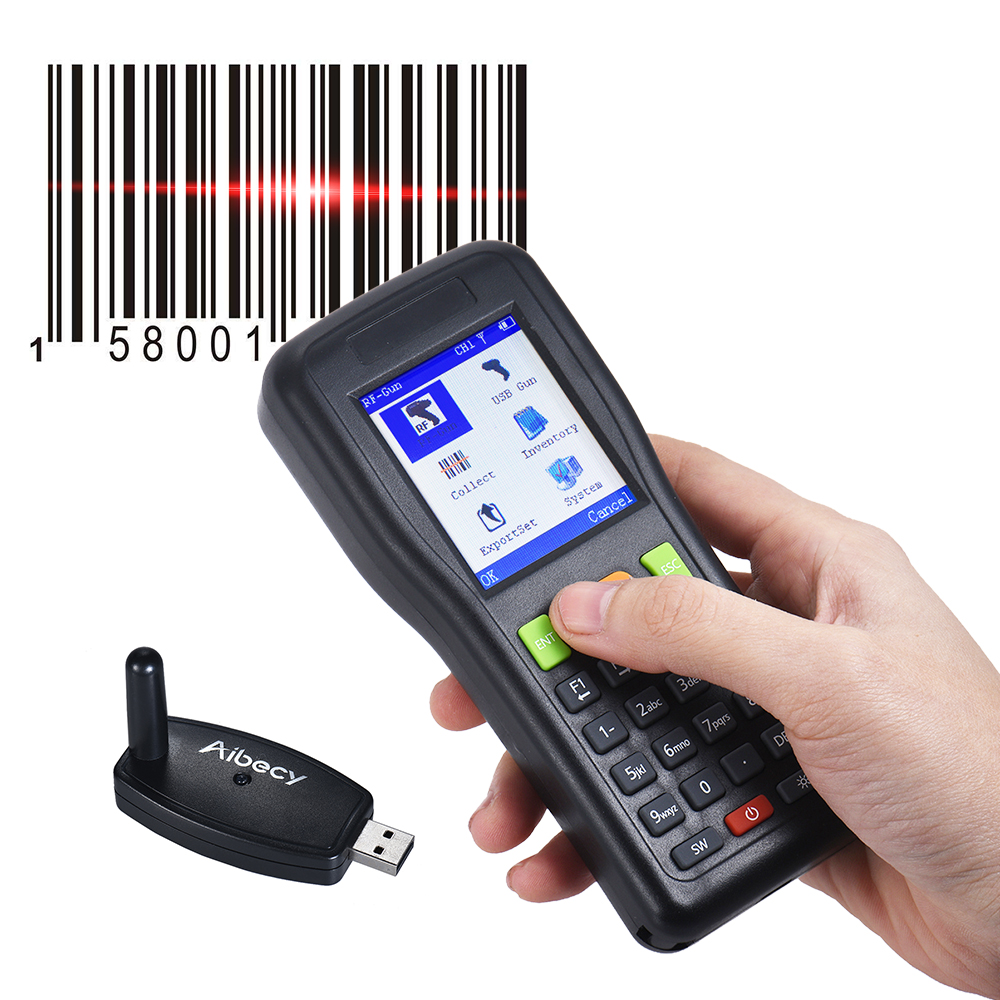 Aibecy LM3306 Bar Code Scanning Instrument Handheld Inventory Data Terminal Collector Wireless Wired Barcode Scanner PDT