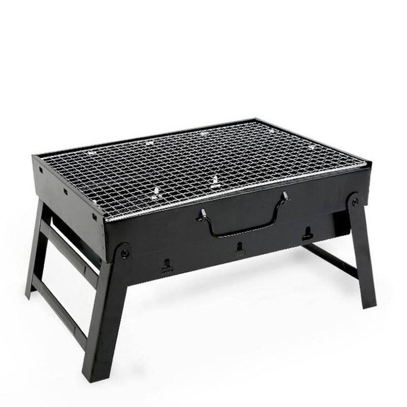 Large black steel stove portable folding oven outdoor thick folding simple portable grill outdoor grill rack & topper