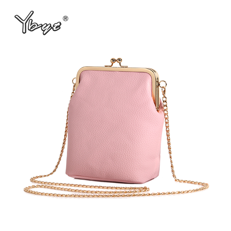 YBYT brand 2018 new vintage casual cute chain women shell bag coin purses handbags ladies mini shoulder messenger crossbody bags