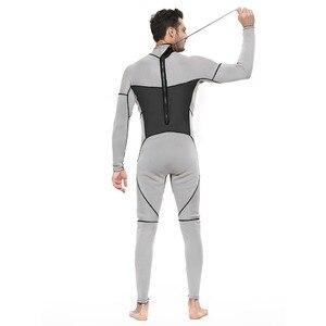 Image 3 - Męskie kombinezon na całe ciało, 3mm męskie neoprenowy długi rękaw kombinezon nurkowy idealny na pływanie/nurkowanie z akwalungiem/Snorkeling/Surfing Orange