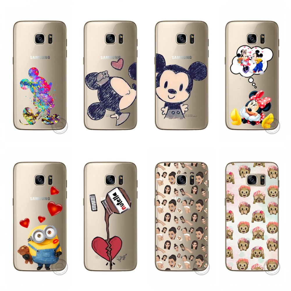 For Samsung Note 4 Note4 Phone Case Cute Minnie Mouse Monkey Iroman Soft Cases TPU Silicone Cover For Samsung Note 4 Note4 Funda
