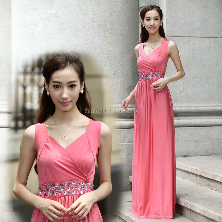 ⑥Coral Pink Formal Party Ball Gowns Holiday Dresses Large size ...