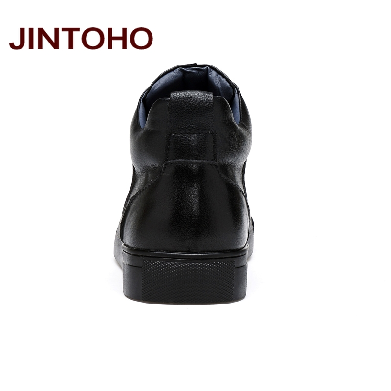 JINTOHO 2018 Casual Leather Boots Genuine Leather Men Shoes Fashion Male Shoes Winter Ankle Boots Male Boots Winter Men Shoes 4