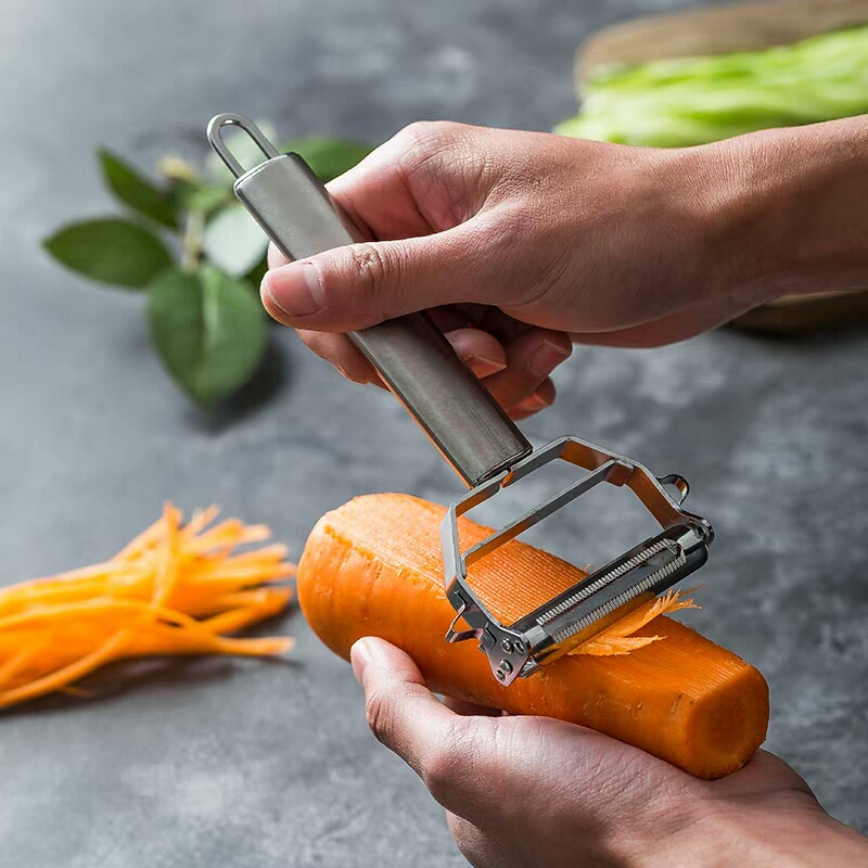Stainless Steel Julienne Peeler Metal Fruit Vegetable Tools Rotary Sharp Grater Potato Carrot Slicer Cutter Kitchen Gadgets Cooking Accessories (2)