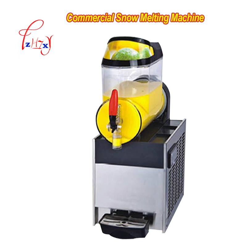 XRJ10Lx1 Single cylinder Commercial Snow Melting Machine 110V/220v Slush Ice Slusher Cold Drink Dispenser Smoothie Machine 1pc