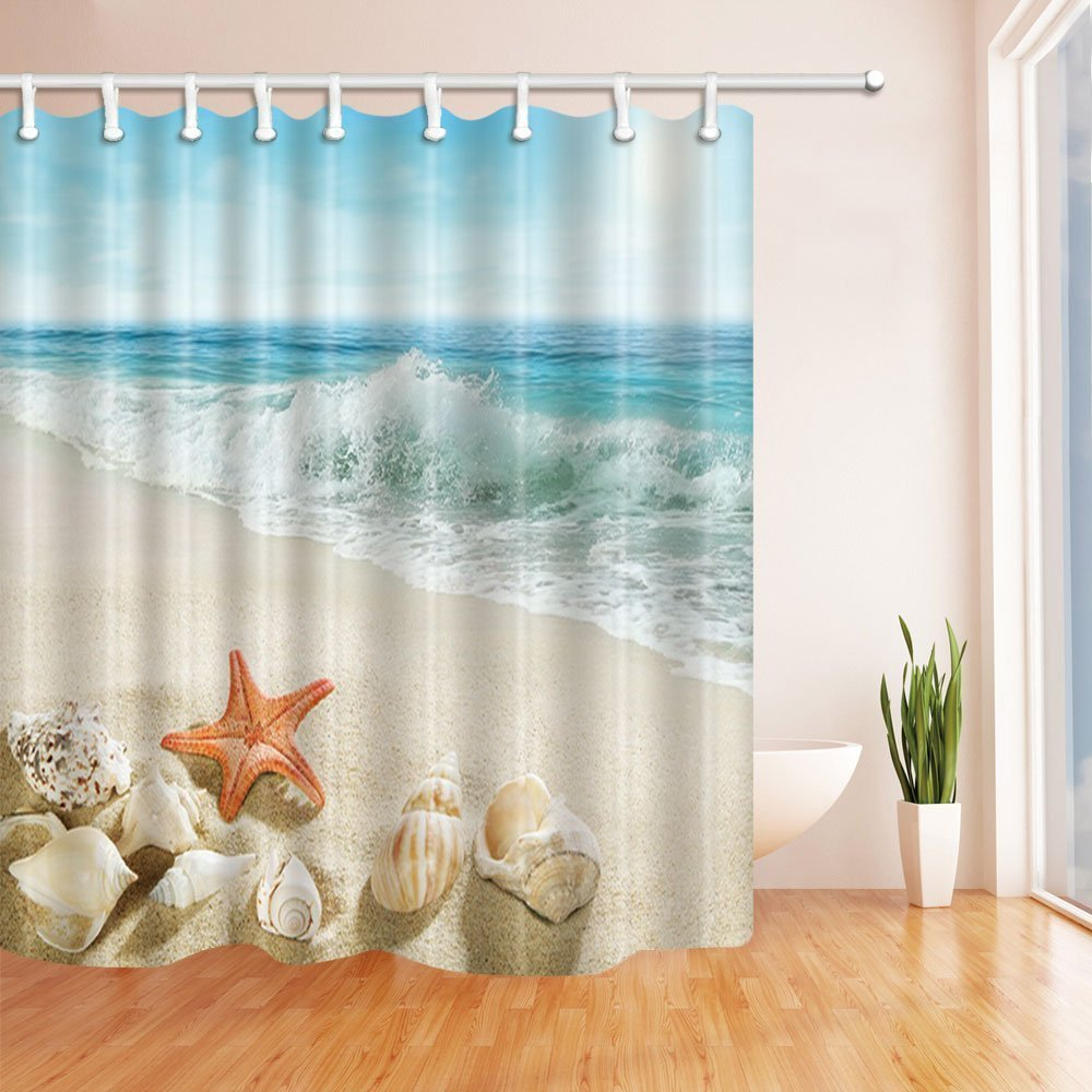 Miracille Sea Turtle Shower Curtain Mat Octopus Home Bathroom ...