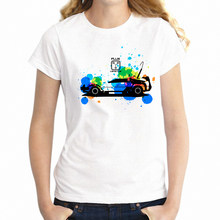 Women's T Shirt Back To The Future DeLorean Time Traveling Car DMC-12 Sci-fi Girl's Tee(China)