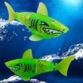 Nuevos juguetes Del Bebé Bebé niños Batería Powered Robot Activado Tiburón Juguete Verde regalos de Marca