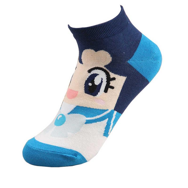Cartoon Socks Suit Sailor Moon Mercury Mars Jupiter Venus Cute Spring Summer Casual Women's Fashion Cotton Sports Socks