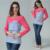 Emoción mamás ropa de maternidad de maternidad de manga larga a rayas tops clothing de enfermería para las mujeres embarazadas lactantes tapas de la camiseta
