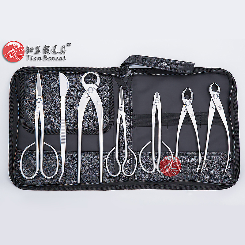 Master's Grade 7 PCS Bonsai tool set (kit) JTTK-03 From TianBonsai master s grade 7 pcs 8 inches bonsai tool set kit jttk 06b from tianbonsai