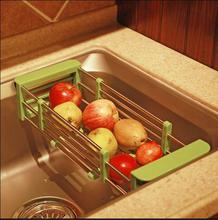Kitchen sink stainless steel retractable can be basket of vegetables and fruits