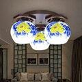 Cerâmica moderna Abajures Chinês Luz de Teto Lâmpada Do Teto De Madeira Sala de estar Criativa Personalidade Artística