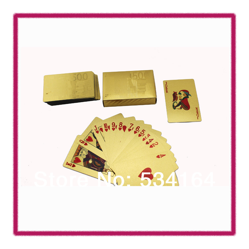 ONE DECK POKER EURO STYLE GOLD FOLD PLAYING CARDS