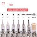 15 pcs 7F Agulha Cartucho De uso Profissional para terceira versão M8 Maquiagem Goochie Permanente Máquina de Caneta, óxido de ETILENO-sterilizered
