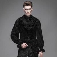 אופנה שטן vintage פאנק החזייה של גברים זכר שרוולים בסגנון גותי ארמון מדהים אסימטרית להשתלב אפוד מעיל