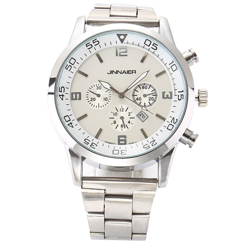 2016 men s quartz watch stainless steel mesh band black watch Chronograph Slim mens watch top