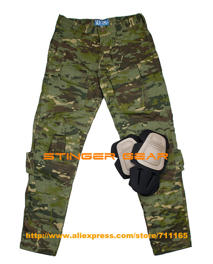 TMC E ONE Multicam Tropic Combat Pants NYCO M65 Outdoor Airsoft Cargo Pants Free shipping SKU12050161