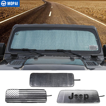 MOPAI Sun Visor for Jeep Wrangler JL Car Front Anti UV Window Windshield Sunshade Cover for Jeep Wrangler JL 2018+ Accessories стоимость