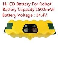 New 14 4V Ni CD 1500mAh Replacement Battery Packs For IRobot Roomba 500 620 700 Series