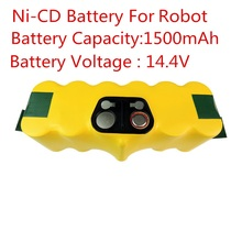 New 14.4V Ni-CD 1500mAh Replacement Battery Packs for iRobot Roomba 500 620 700 Series 80501 530 510 780 770 760(China)