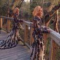 Nueva Llegada Por Encargo de manga Larga vestidos de Baile 2017 Abierto Detrás de La Sirena Vestido de Fiesta Vestidos de Fiesta Formal