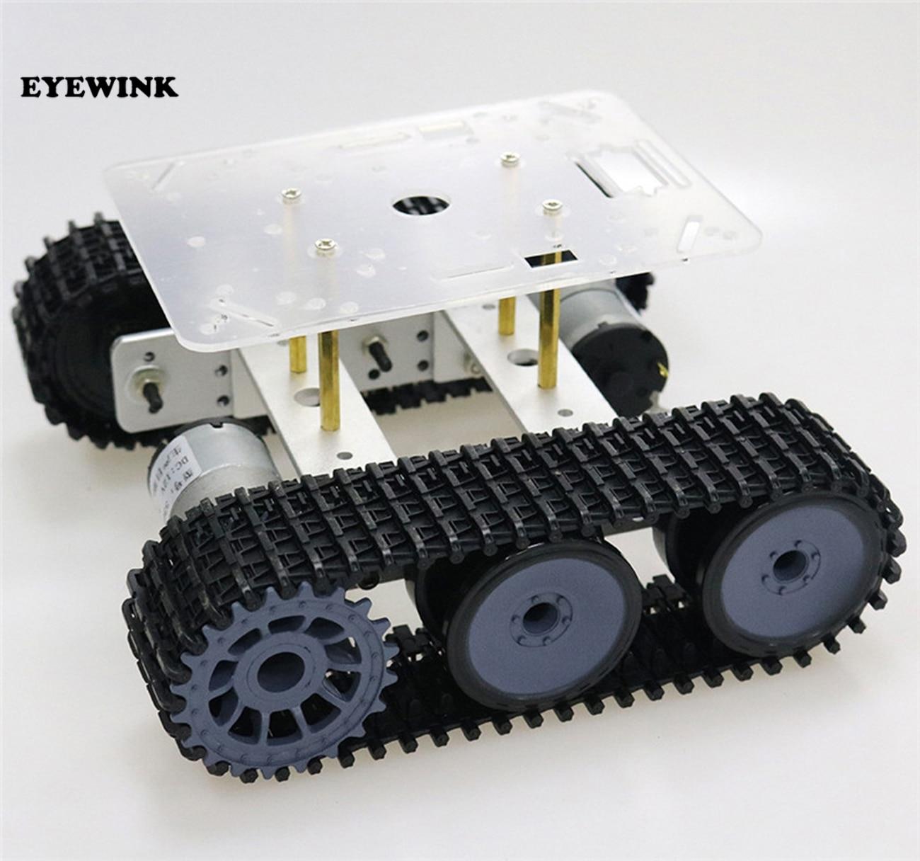 RC Robot Tanque Chassis de Metal mini TP100 Veículo Rastreado com Plástico Faixa de Lagartas Caterpillar para Arduino diy kit educativo