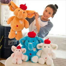 New Style Cute Elephant Plush Toys Stuffed Animal Soft Doll Toy Children Gift Valentines Day Gifts