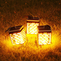 Creative Outdoor Solar IP55 Lawn Lamp Flashing Flame Light Waterproof For Home Garden Office Bar Wedding Party Decoration