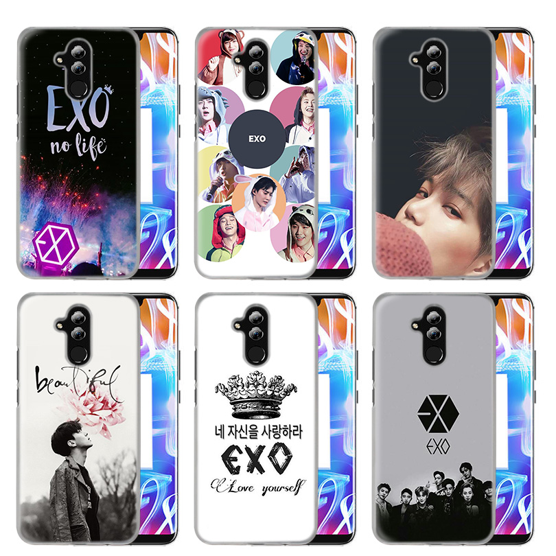Case Cover For Huawei Honor P20 Mate 20 10 P10 P9 P8 8X 9 Lite P Smart + Plus 2017 2019 Nova 3i Clear EXO Band K-Pop Kpop Coque