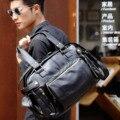 New masculino sacos de PU saco do mensageiro da bolsa homem ocasional saco de viagem comercial para o negócio/diário/viagem uso preto brown, frete grátis