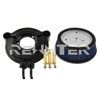 Motorcycle Air Cleaner System Bule Big Sucker Stage I Air Filter Kit For Harley Dyna 2000 2016 2017 Softail 2000 2014 2015