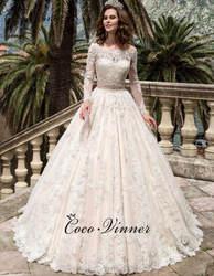 Свадебное платье Boho A line с кристаллами и вырезом лодочкой, рукава 2019, нашивки, свадебные платья для невесты W0038
