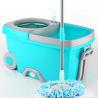 Spin Mop Bucket Stainless Steel Rotating Mop with Bucket Double Drive Hand Pressure Household Floor Cleaning Tools Set