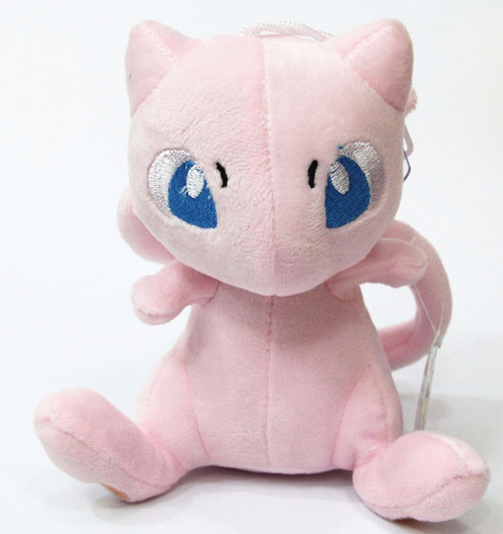 NEW Arrival Dex Mew Plush Toy Cute Mew Soft Stuffed Animals 16 Cm Kids Present