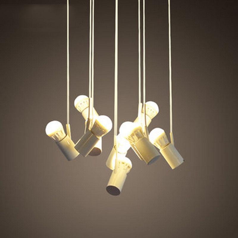T Loft Retro White Pendant Light Light For Dining Room Restaurant Corridor Balcony Simple Creative Lamp E27 Led bulbs