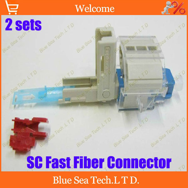 Фото Free Shipping 2 sets New type Fiber Optic Fast Connector SC-SM Fast Connector Quick connector FTTH for digital communications