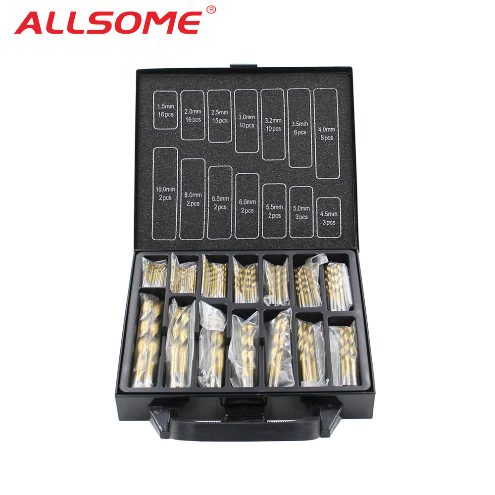 YOFE 99pcs Titanium Stainless Steel High Speed Drill Bit Set For Electrical Drill