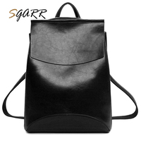 SGARR 2018 New Korean Backpacks Black Wine Red Blue Brown Fashion PU Leather Shoulder Bag Small