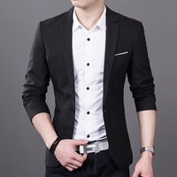 UNIVOS KUNI2017New Men S Blazer Autumn Winter Fashion Small Suit Men S Korean Slim Leisure Casual