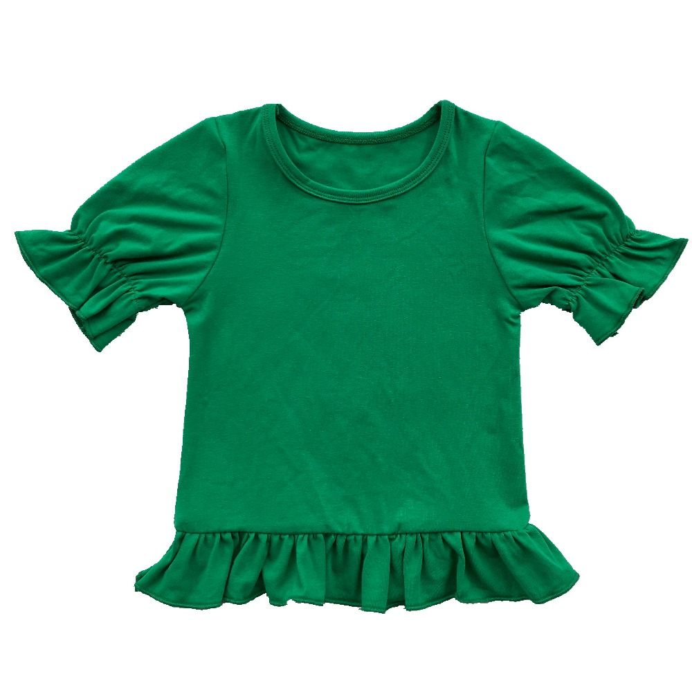 b30d46820 christmas Personalized Summer Girls Short Sleeved Shirt halloween Girls  Monogrammed Short Sleeved Blanks Boutique Ruffle Shirt-in Tees from Mother  & Kids on ...