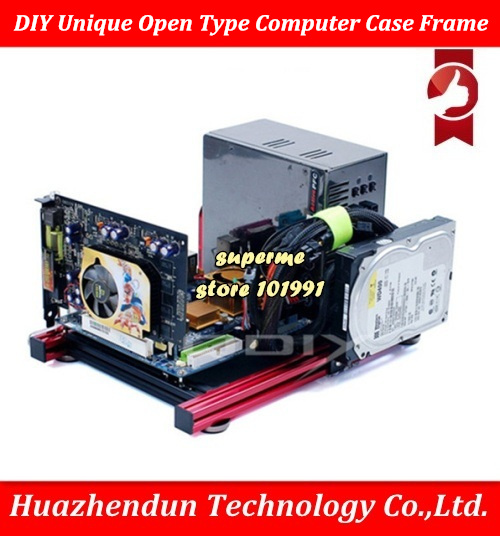 DEBROGLIE DIY PC-JMK6 Aluminum Alloy Horizontal Full Open Computer Case Chassis for ITX ATX MATX m-ATX Mainboard стоимость