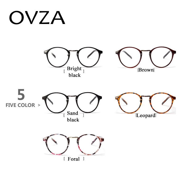 Ovza Oval colorless lens men optics frames eye glasses frames for ...