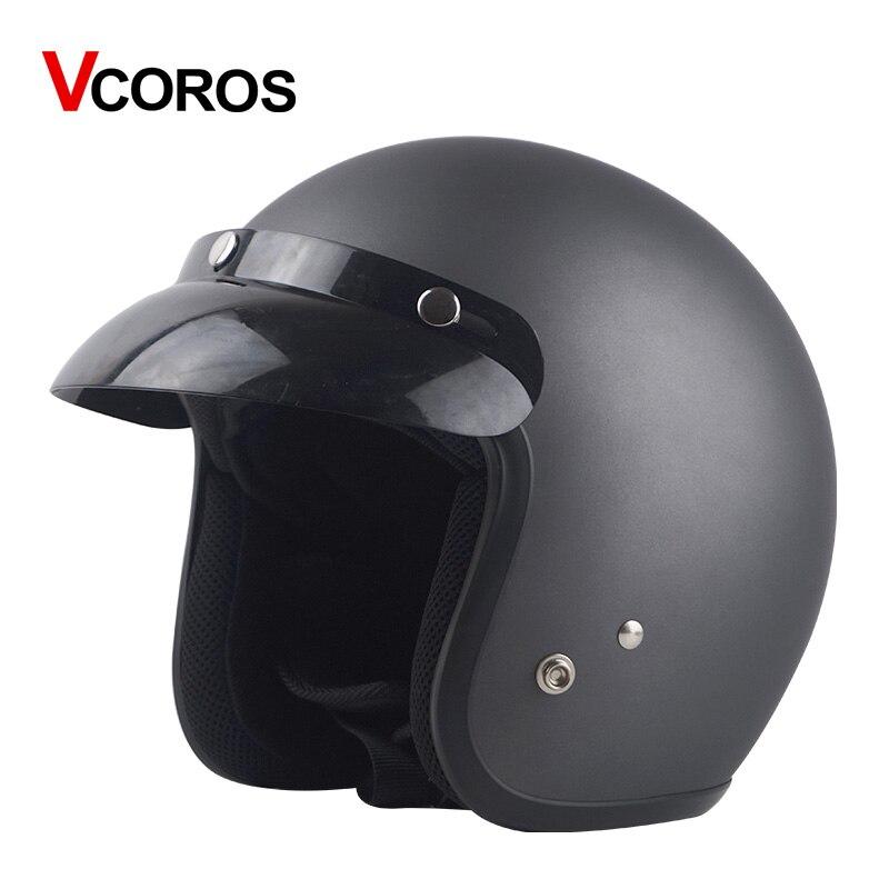 Для взрослых с открытым лицом Jet Casco moto Винтаж moto rcycle шлем moto rbike Ретро шлем скутер 3/4 полушлем capacete de moto cicleta - Цвет: Matte silver