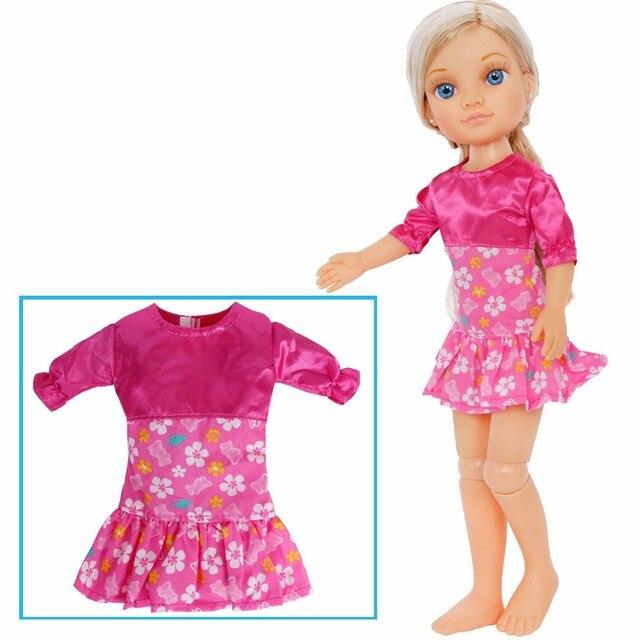 e6260aae89 1 unids pieza lindo Mini vestido hecho a mano para fiesta diaria falda Rosa  patrón de