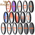 KnightX FLD UV CPL MC UV Orange grey Blue Lens Filter Line for Canon EOS Nikon D7100 D5300 D5200 D3300  Digital Camera Lenses